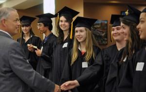 MU High School students  attend their graduation ceremony.